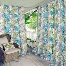 Green And Blue Curtains Outdoor Curtains Drapes Window Treatments The Home Depot