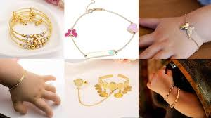 multi tone gold bracelet images Cute baby gold bracelates design gold charm bracelet design kids jpg