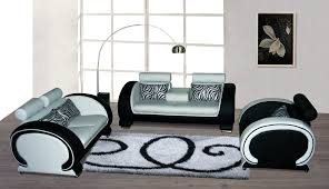 Real Leather Sofa Sets by Hanari Black And White Sofa Set Best S3net Sectional Sofas