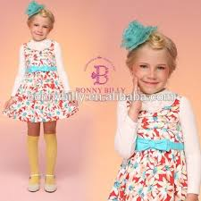 bonnybilly new winter dress latest design importing baby clothes