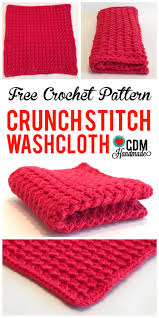check out this quick and easy free crochet washcloth pattern for