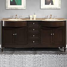 72 Double Bathroom Vanities by Amazon Com Silkroad Exclusive Hyp 0717 T Uwc 72 Travertine Stone