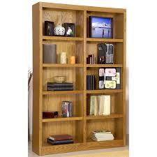 amazon com ten shelf double bookcase 72