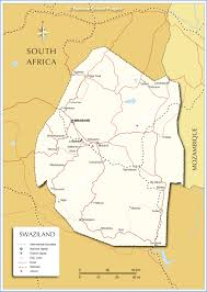 Political Map Africa by Political Map Of Swaziland Nations Online Project