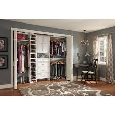 closetmaid impressions 25 in dark cherry deluxe hutch closet kit