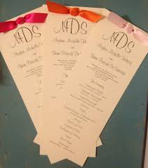tea length wedding programs tea length wedding program with ribbon search wedding