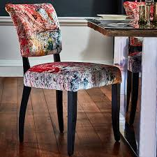 Damask Dining Chair Timothy Oulton Mimi Velvet Faded And Degraded Dining Chair