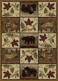 Rustic Outdoor Rugs Tayse Rugs Portrait Wildlife Novelty Pattern Lodge Area Rug