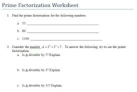 prime numbers and factors worksheet all worksheets factors multiples and prime numbers worksheets