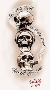 25 beautiful evil skull tattoo ideas on pinterest skull tattoos