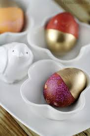 gold dipped easter eggs frugal mom eh