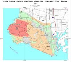 Los Angeles County Zip Code Map by Radon At Tahoe Radon Maps