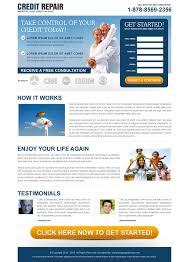 credit repair responsive landing page design to boost conversion