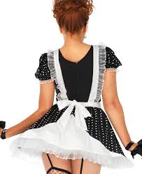 halloween costume maid new leg avenue 86668 frisky frenchie maid halloween costume ebay