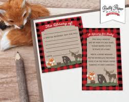 fox baby bookplates etsy
