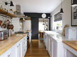 Galley Kitchen Makeovers - this shaker style galley kitchen merges vintage with contemporary