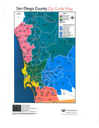 Zip Codes Map by San Diego County Zip Code Map Art Abbett