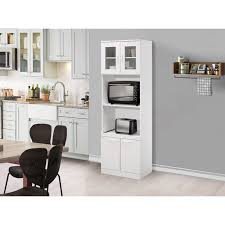small kitchen cabinets walmart gremlin kitchen storage pantry microwave cabinet white wood glass contemporary