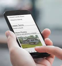 mobile friendly rental listings and online applications