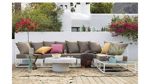 Outdoor Furniture Sectional Sofa Casbah Modular Outdoor Sectional Sofa Cb2