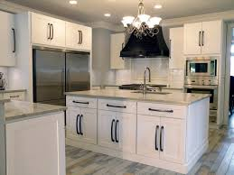 White Kitchen Cabinets With Black Hardware Photos Of Kitchen Cabinets With Knobs White Shaker Cabinets With