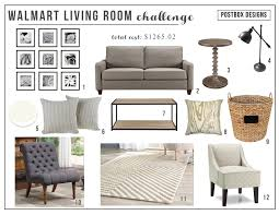 walmart living room chairs walmart living room budget design challenge postbox designs