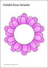 coloured templates editable coloured flowers templates sb7066 sparklebox