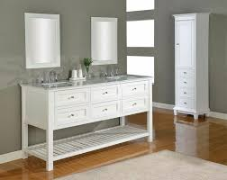 white bathroom double vanity decorating clear