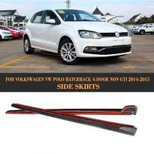 volkswagen cars 2015 aliexpress com buy carbon fiber car side skirts lip chin spoiler