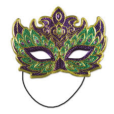 green mardi gras mask 12ct beistle mardi gras costume mask purple and green bulk