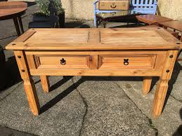 fabulous 2 drawer solid mexican pine console table or dining room