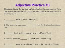 adjectives take notes on the pages titled u201cnotes u201d and follow the