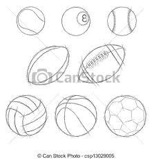 vector clipart of sport balls sketch icon set csp13029005 search