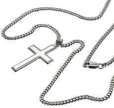 man necklace silver sterling images Cross pendant necklace for men silver bliss 2192ss 24s jpg