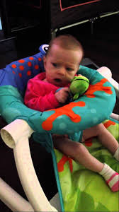 Chair For Baby To Sit Up Three Month Old Sitting In Fischer Price Sit Me Up Chair Youtube