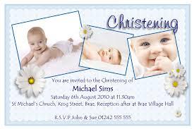 Photo Card Invites Picture Invitations Personalised Christening Invitations