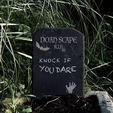 halloween garden slate tombstone decoration by bespoke u0026 oak co