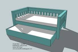 Platform Queen Or King Bed Woodworking Plans Patterns by Ana White Trundle For Bed Or Storage Diy Projects