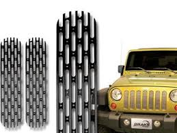 Rugged Ridge Billet Grille Inserts In Black Jk Grilles U0026 Inserts Black Dog Offroad