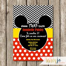 mickey mouse oh two dles birthday invitation mickey mouse