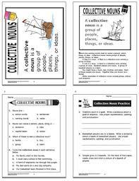 nouns activities lesson color game collective nouns workheet