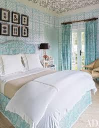 beach theme bedroom blue framed bed gray carpet white nightstand