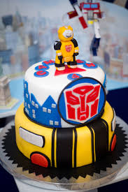 transformers bumblebee and optimus party cake topper transformers cake transformer party birthdays and transformer