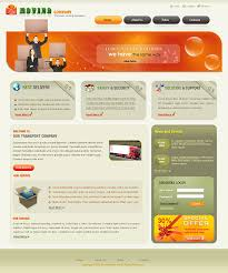 website html templates for delivery company