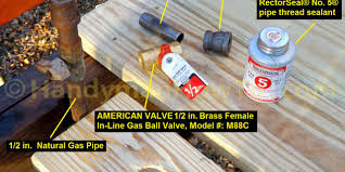 to install a natural gas shutoff valve for a grill