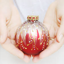 Red Mercury Glass Christmas Ornaments Victorian Christmas Ornaments By Silverowlstudio On Etsy