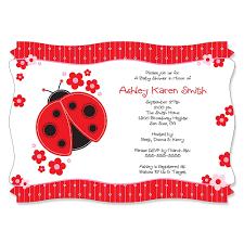 ladybug baby shower modern ladybug personalized baby shower invitations