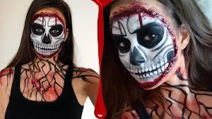 skull makeup tutorial for halloween youtube