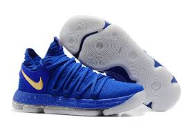 2017 new nike kd 10 finals pe blue gold sneakers for sale new