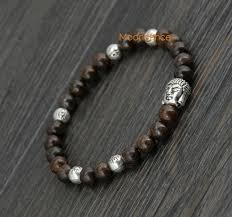 evil eye beads bracelet images Men gift bracelet 6mm bronzite with buddha and evil eye bead jpg